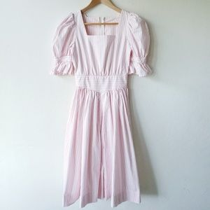 Vintage Pink Striped Little Bo Peep Prairie Dress